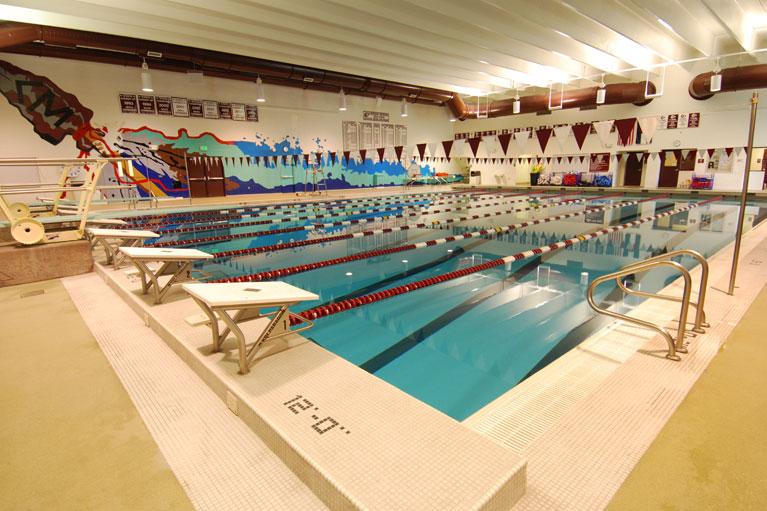 cheyenne mountain high school indoor lap pool built in colorado springs, colorado