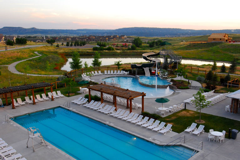 the grange community center pool, castle rock, colorado