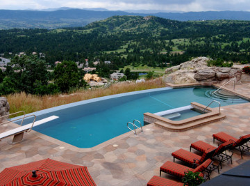 colorado residential pool constructed in castle pines, colorado