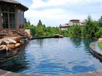 private colorado inground swimming pool built in colorado springs, colorado