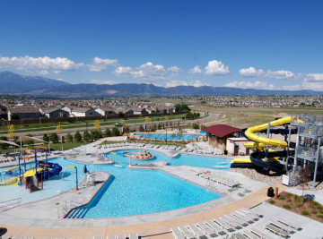 villa sport athletic club pool complex constructed in colorado springs, colorado